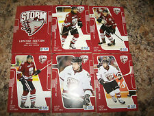 2013-14 ZAC LESLIE GUELPH STORM OHL PLAYER CARD