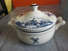 Vintage BENSDROP BLOOKER Royal GOEDEWAAGEN Blauw DELFTS Covered CROCK DISH Blue