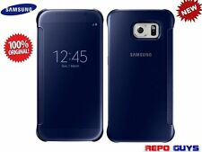 10 x Samsung Galaxy S6 EF-ZG920B Original CLEAR View Flip Case Cover BLUE