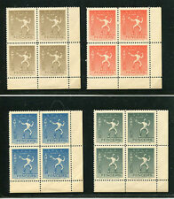 Olympics 1940 Helsinki Fencing Poster Stamps - Blocks Mint Never Hinged Perfect!