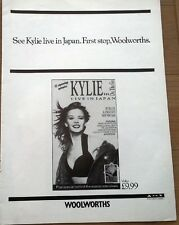 KYLIE in Japan (Woolies) UK magazine ADVERT / Poster 11x8 inches