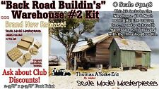 """Back Road Buildin's"" The Warehouse #2 Kit Yorke/Scale Model O/On3/1;48 *NEW*"