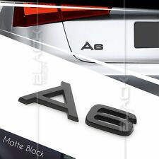 MATTE BLACK A6 REAR BOOT TRUNK LOGO LETTER EMBLEM BADGE FOR AUDI QUATTRO S LINE