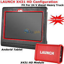 Launch X431 HD Module+ Android Tablet  Scanner For 24 V Heavy Duty Diesel Truck