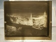 Vintage GLASS NEGATIVE SLIDE Picture of Antique Car On Mountain Road In Colorado