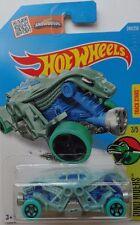 2016 Hot Wheels DINO RIDERS 3/5 Double Demon 248/250 (Dull Aqua)(Int. Card)