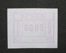 Norwegen 1981: ATM/variable rate stamp/label, m. Automaten-Nr. 4, postfrisch MNH
