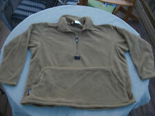Medium USMC Polartec 100 Fleece Pullover Jacket Coyote Brown (Very Good Cond.)