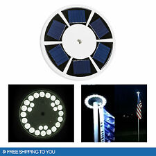 Waterproof Automatic Solar Powered Flag Pole Light 26 LED Outdoor Night Lamp
