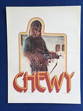 """1977 Star Wars Chewbacca Factors 12.5"""" x 9.5"""" Cardstock Proof Poster Iron On"""