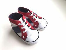 Baby boy shoes trainers blue red and white 3-6 months new soft for walking