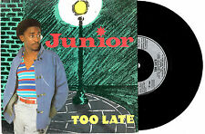 "JUNIOR - TOO LATE / IN WORDS - 7"" 45 VINYL RECORD PIC SLV 1982"