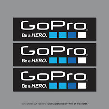 SKU2435 - 3 x Go Pro Be A Hero Stickers - Decals - 148mm x 41mm