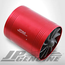 """2.5"""" INTAKE SUPERCHARGER TURBO FUEL GAS SAVER FAN DUAL RED - UNIVERSAL 2"""