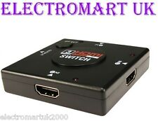 3 WAY HDMI SWITCH BOX SPLITTER AUTOMATIC MANUAL V1.4 3D TV COMPATIBLE