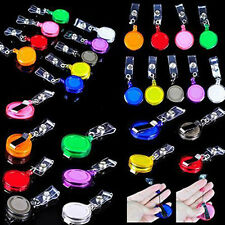 5PC Badge Lanyard Hot Belt Clip ID Recoil Reel Holder Name Tag Retractable