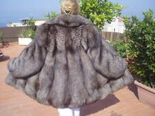 GREAT SILVER / INDIGO / FROST FOX  FUR COAT / JACKET SIZE LARGE 12 / 14 / LARGE