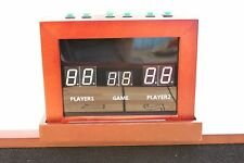 2 PLAYER UNIVERSAL ELECTRONIC SCORING UNIT~SCORE BOARD~SHUFFLEBOARD TABLE~CHERRY