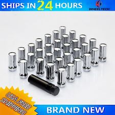 "32 pcs 9/16"" Closed Bulge Acorn Chevy Suburban Ford Dodge Steel Wheel Lug Nuts"