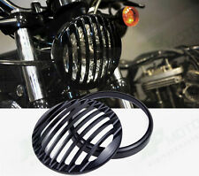 "Hot Sale 5 3/4"" Black Headlights Grill Cover Kit For! Harley Sportsters"