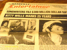 Jerry Reed Covers Nashville Entertainer Magazine 1972 Kitty Wells