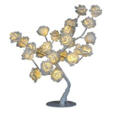 BNWT Cream Rose LED Tree Light Table Lamp Conservatory 24 Flowers NEW Home Gift