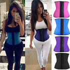 Real Blue Latex Rubber Body Shaper Waist Trainer Sport Girdle Cincher Corset M