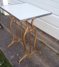 TABLE MADE OF ANTIQUE SEWING MACHINE BASE & Vintage Kitchen Counter REPURPOSED