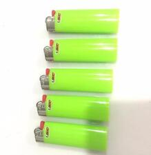 5 Full Size Green BIC Lighters, New, Fast Shipping, Limited Quantities