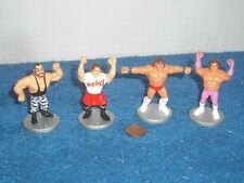 "Lot of 4 1991 WWF WWE Mini-Wrestlers 2"" action figures Royal Rumble Titan"