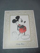 Vintage  Picture  MICKEY MOUSE Suitable for Framing  Walt Disney productions