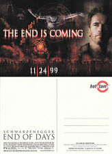 END OF DAYS THE MOVIE UNUSED ADVERTISING COLOUR POSTCARD (a)