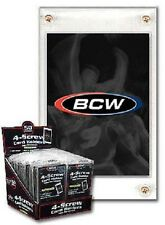 (5 Count Lot) BCW 4-Screw Screw-Down Recessed Trading Card Holder Regular 20pt