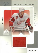 Sergei Fedorov 2000-01 SP Game Used Tools of the Game Jersey Detroit Red Wings