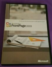 MICROSOFT FRONTPAGE 2003 UPGRADE FOR WINDOWS OS GENUINE RETAIL WITH PRODUCT KEY