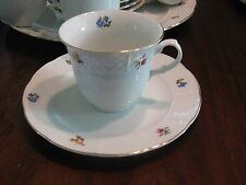 Vintage TK Thun Czechoslovakia Bouquet Cups and Saucers (6)