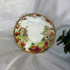 ROYAL ALBERT OLD COUNTRY ROSES CELEBRATE 25TH ANNIVERSARY SAUCER ONLY no cup