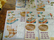 Stoney Creek Collections Tropical Island Afghan craft pattern booklets lot A-E