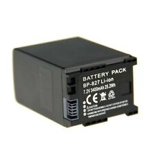 High-Capacity Battery for Canon BP-827 BP-808 Vixia HF-S10 HF100