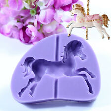 3D Carousel Horse Silicone Cake Mold Christmas Cupcake Topper Chocolate Baking