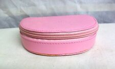 "#CS-RW ROWALLAN OF SCOTLAND NWT ""MEG"" HALF MOON PINK LEATHER JEWELRY KEEP BOX"