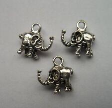 30 pcs Tibetan silver elephant charms pendant 12x11.5mm
