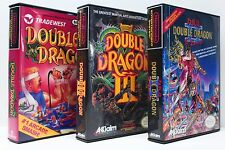 Double Dragon 1, 2, 3, I, II, III NES Custom Game Cases Set - NO GAMES INCLUDED