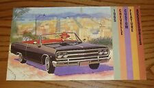 1965 Chevrolet Chevelle Custom Feature Accessories Sales Brochure 65 Chevy