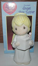 Angel Tree Topper Porcelain Precious Moments #265772 1996 NEW Enesco +Bonus Bell