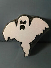 HALLOWEEN DECORAZIONE FANTASMA IN POLISTIROLO 24x24cm FESTA DJ PARTY HORROR