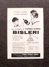 L700- Advertising Pubblicità -1960- BOTTIGLIA DI FERRO-CHINA , BISLERI