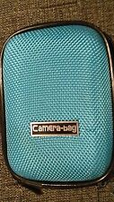 CamEra-bag Blue Digital Camera Case - Zip/NEW/Textured/Photo/Picture