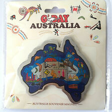 Australian Souvenir Colourful Map Magnet OZ Souvenir Gift