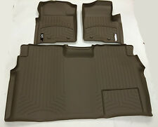 WeatherTech 2009 - 2013 Ford F-150 Tan 1st and 2nd row FloorLiner